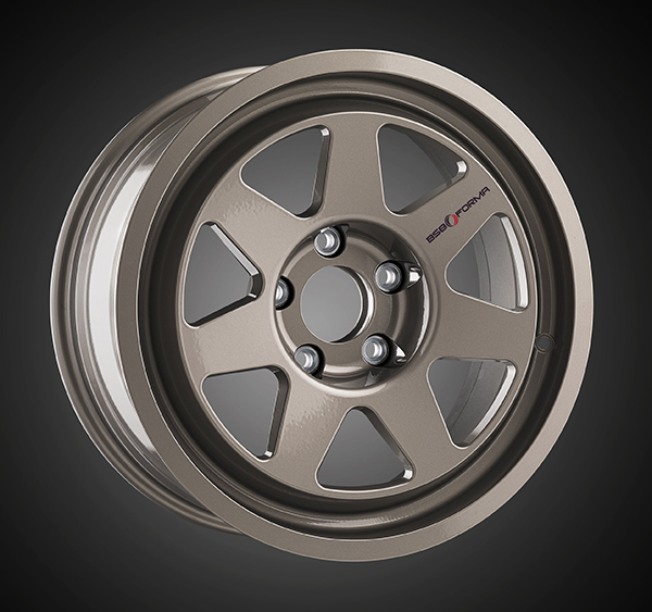 Wheel BMW M3 E30 Polished Titanium